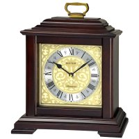Rhythm Gold Leaf Mantel Clock