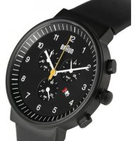 Braun Chrono Ceramic Black Steel