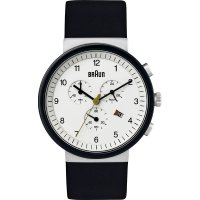 Braun Chrono Ceramic White Steel