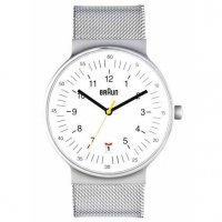 Braun Steel White Date