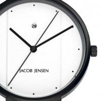 Jacob Jensen NEW Steel 762 PVD 29mm