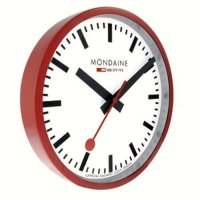 Mondaine Red Wall Clock