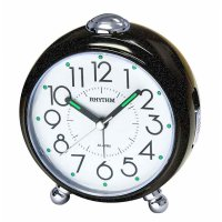 Rhythm Charm Alarm SNZ Sweep Light Black
