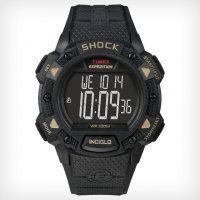 Timex Expedition LCD Shock Pusher Chronograph Black