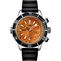Timex Intelligent Quartz Depth Gauge Thermo Orange 46mm