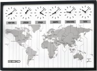 Seiko World Time Map Oak Pemium 85