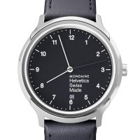 Mondaine Helvetica Regular T12 40 Black