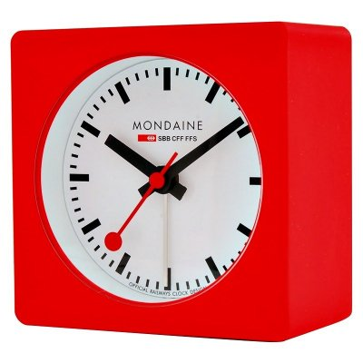 Mondaine Square Alarm Red