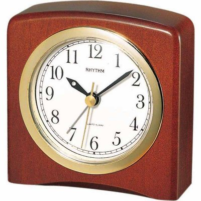 Rhythm Square Wood Dark Alarm