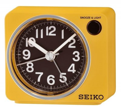 Seiko Flash LED Sweep Snooze Light Hot Yellow
