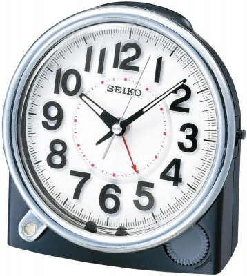Seiko Permanent Light Rising Beep Snooze Sweep Black