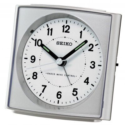 Seiko Square Silver RC Light Snooze