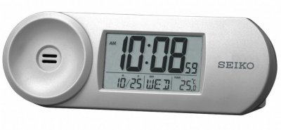 Seiko LCD Thermo Calendar Snooze Light Silver