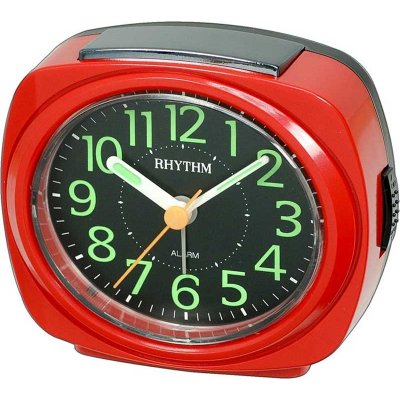 Rhythm Luminous Silent Sweep 4-Snooze Red
