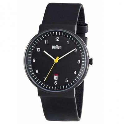 Braun Steel Black Bauhaus Leather