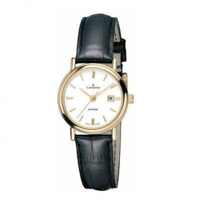 Candino Sapphire Gold Plated White 27mm