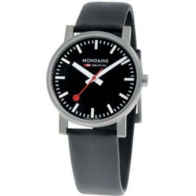 Mondaine EVO SBB Polished Black 35 mm