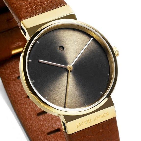 ure og armb ndsure jacob jensen dimension gold plated sapphire 854 28mm hos priisma ur. Black Bedroom Furniture Sets. Home Design Ideas