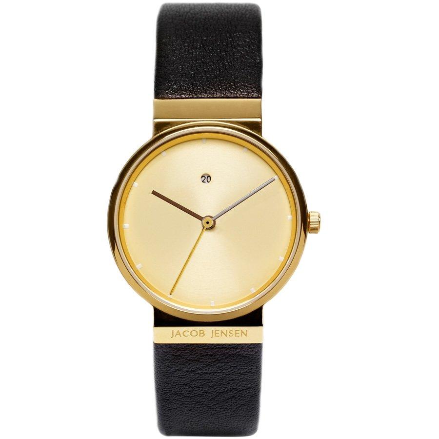 ure og armb ndsure jacob jensen dimension gold plated sapphire 855 28mm hos priisma ur. Black Bedroom Furniture Sets. Home Design Ideas