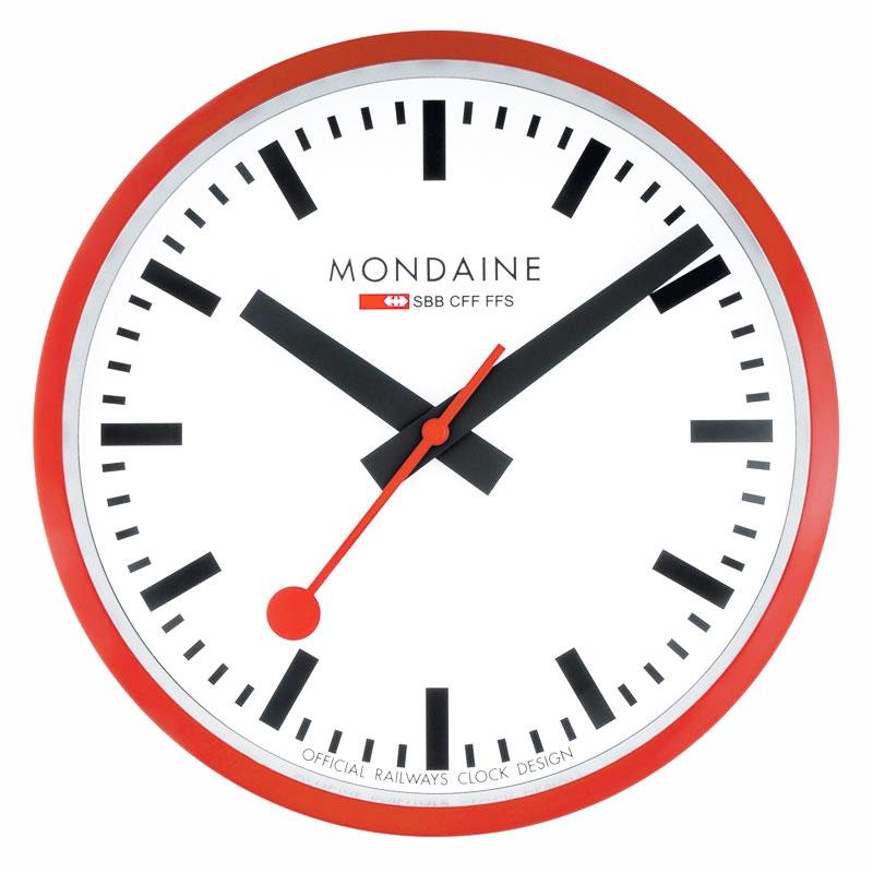 V 230 Gur Mondaine Red Jumbo Wall Clock 40 V 230 Gur Priisma